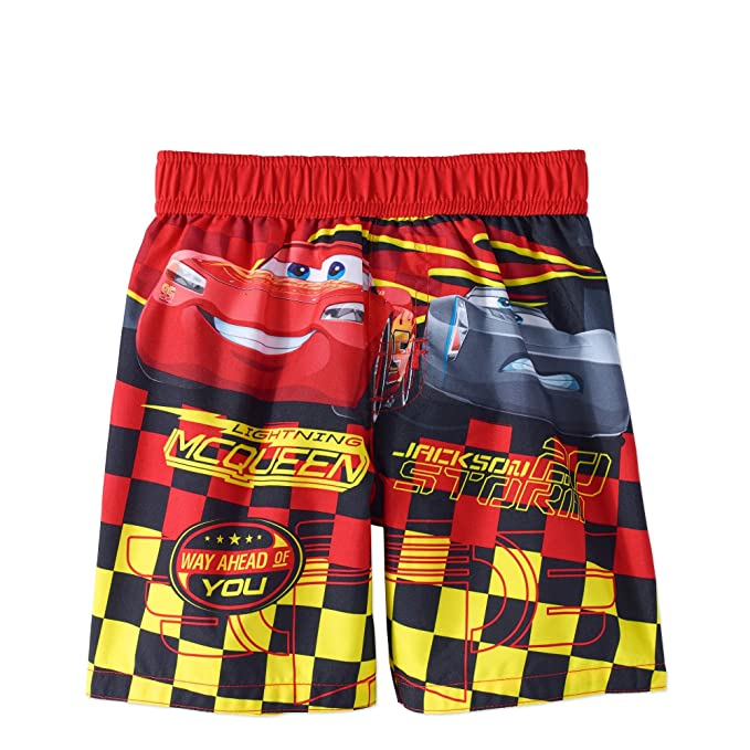 a1d9ea8ef3 Image Unavailable. Image not available for. Color: Dreamweaver Toddler Boys  Cars Lightning McQueen Swim Trunks, Red ...