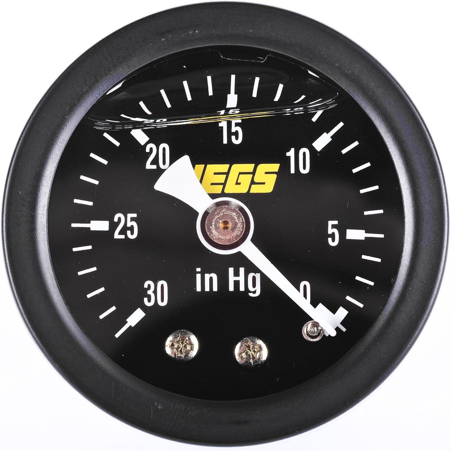JEGS 41008 Liquid-Filled Vacuum Gauge