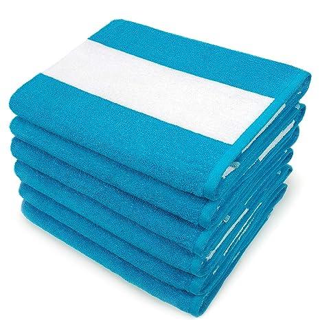 Cabana Terry Loop Towel 6-Pack Kaufman 30in x 60in