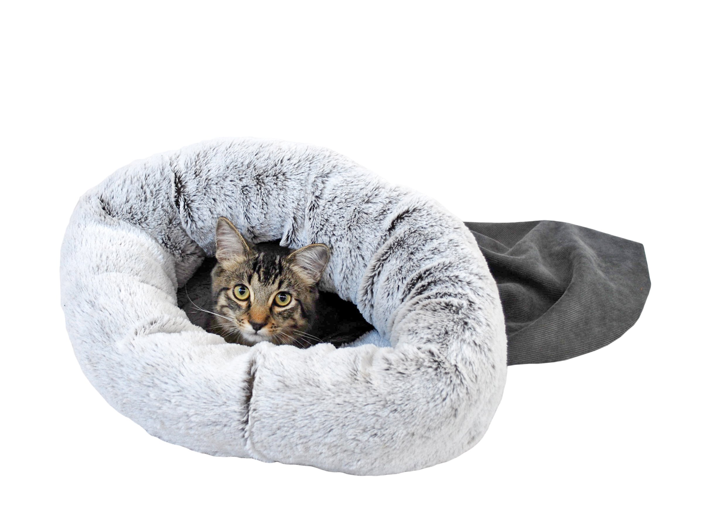 STUFT R2P Group 2412-025 Snuggle Sack Pewter Pet Bed, Large