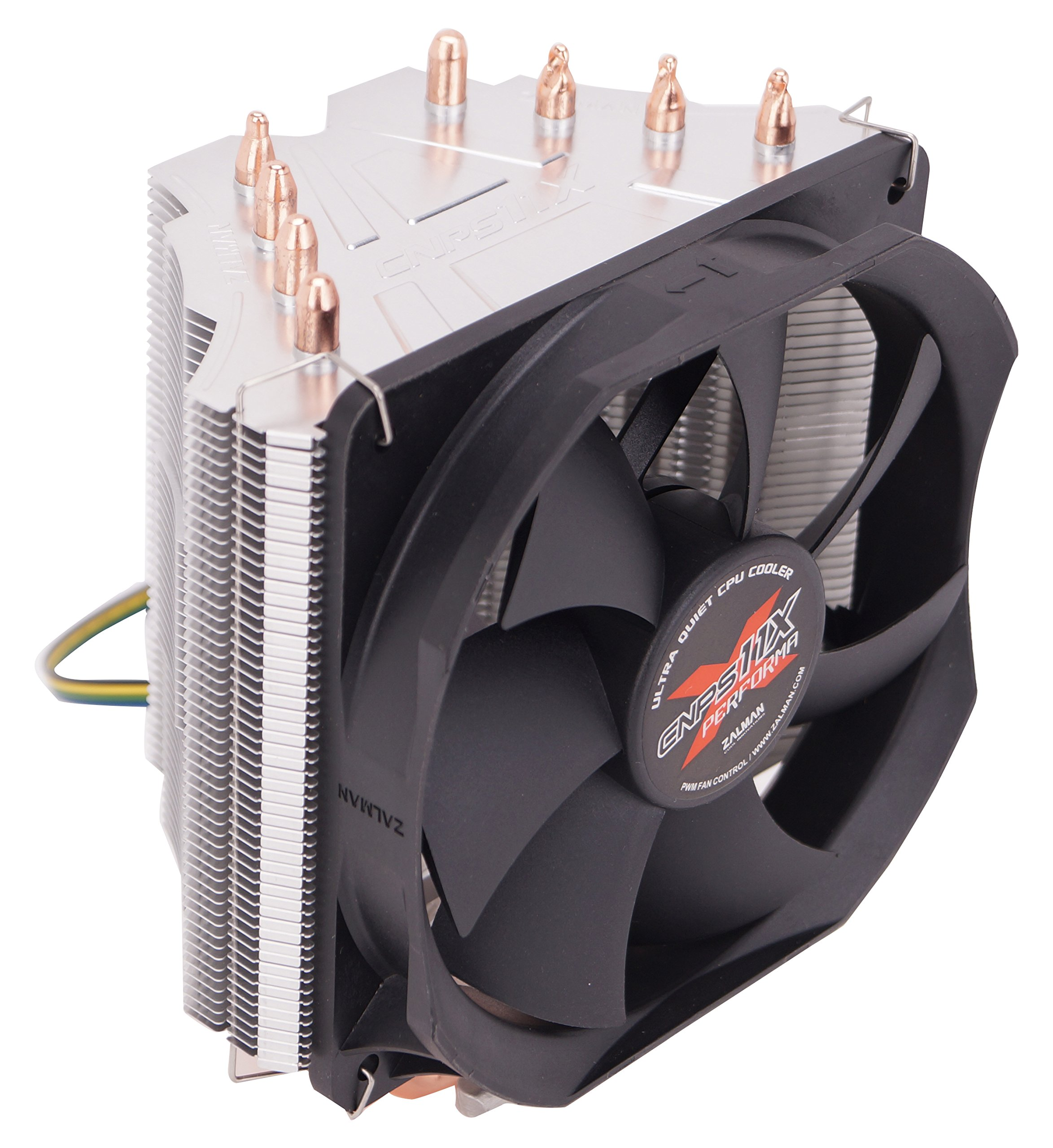 Zalman Ultra Quiet CPU Cooler with 4 Direct Touch Heatpipe Cooling, Silver (CNPS11X Performa+)