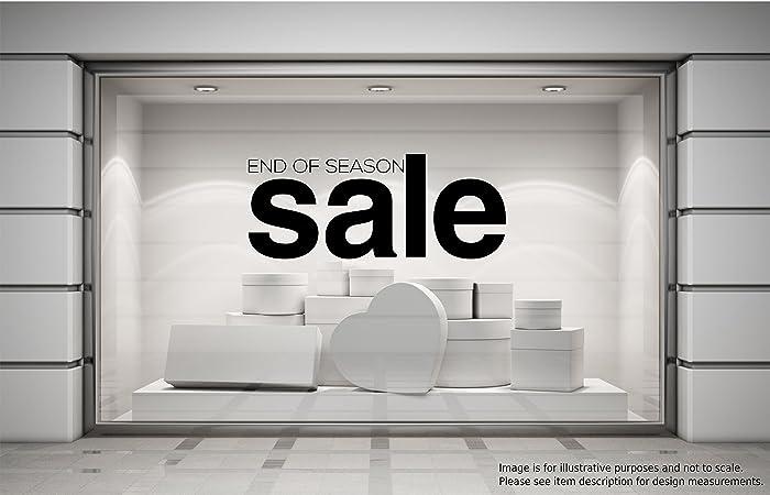 61094c0b6b0 END OF SEASON SALE Shop Window Sticker Retail Display Store Spring   Summer    Autumn