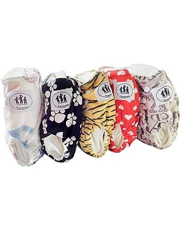 Mumsbest Lot de 5 couches de poche r/éutilisables pour gar/çon avec inserts en bambou et sac humide Taille unique r/églable de la naissance /à la propret/é