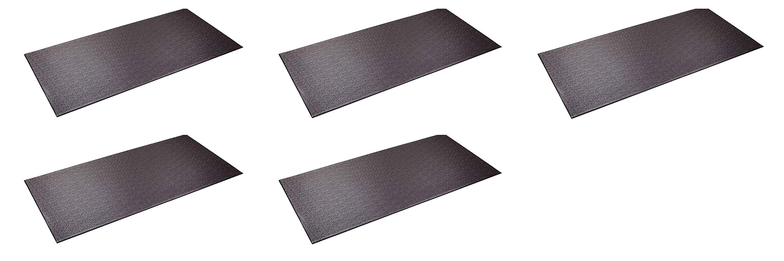 SuperMats Heavy Duty Equipment Mat 13GS Made in U.S.A. for Indoor Cycles Recumbent Bikes Upright Exercise Bikes and Steppers (2.5 Feet x 5 Feet) (30-Inch x 60-Inch) (Fіvе Расk)