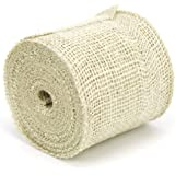 Kel-Toy Jute Burlap Ribbon, 4-Inch by 10-Yard, Ivory