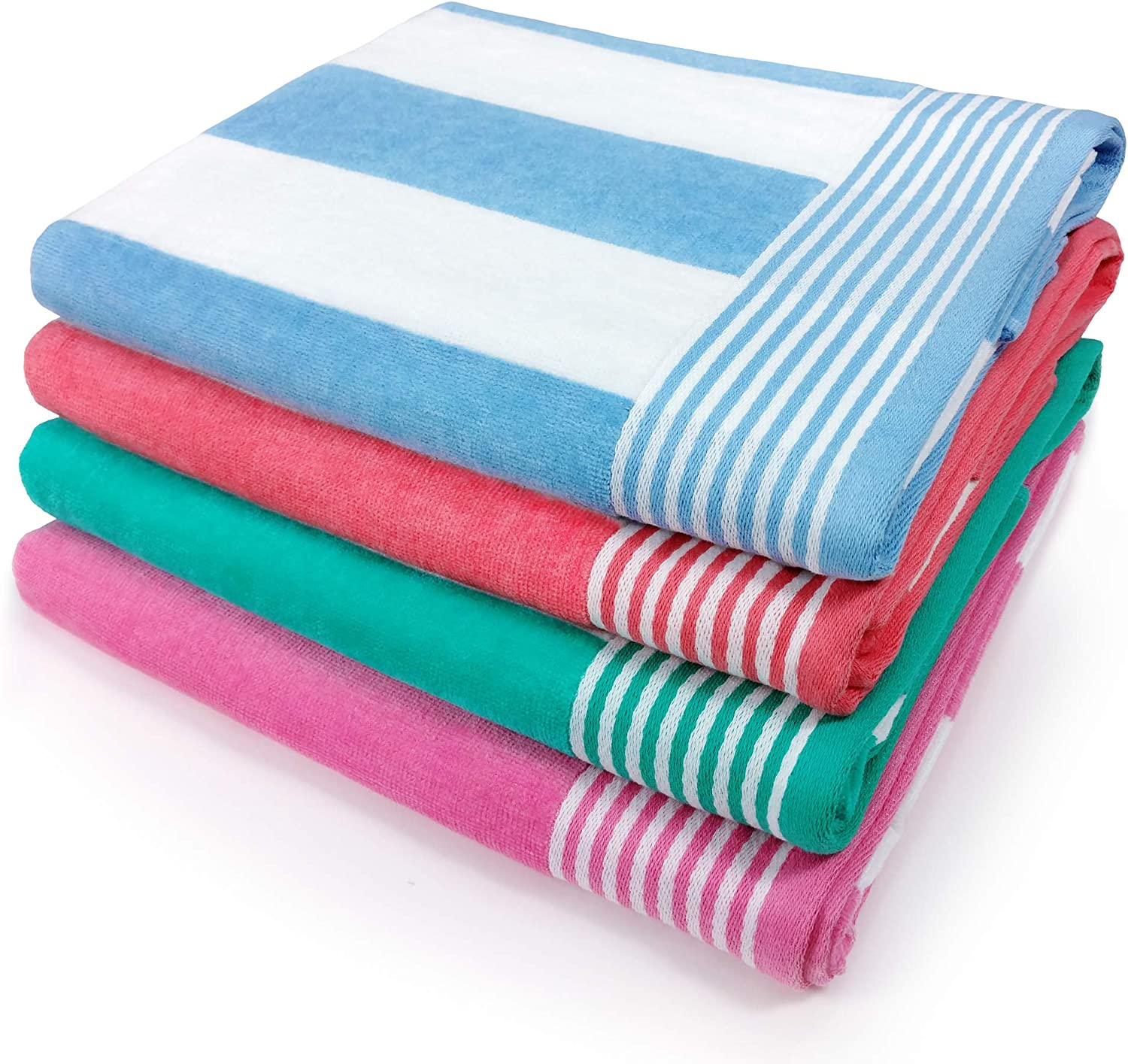 Kaufman - Velour Cabana Towels 4-Pack