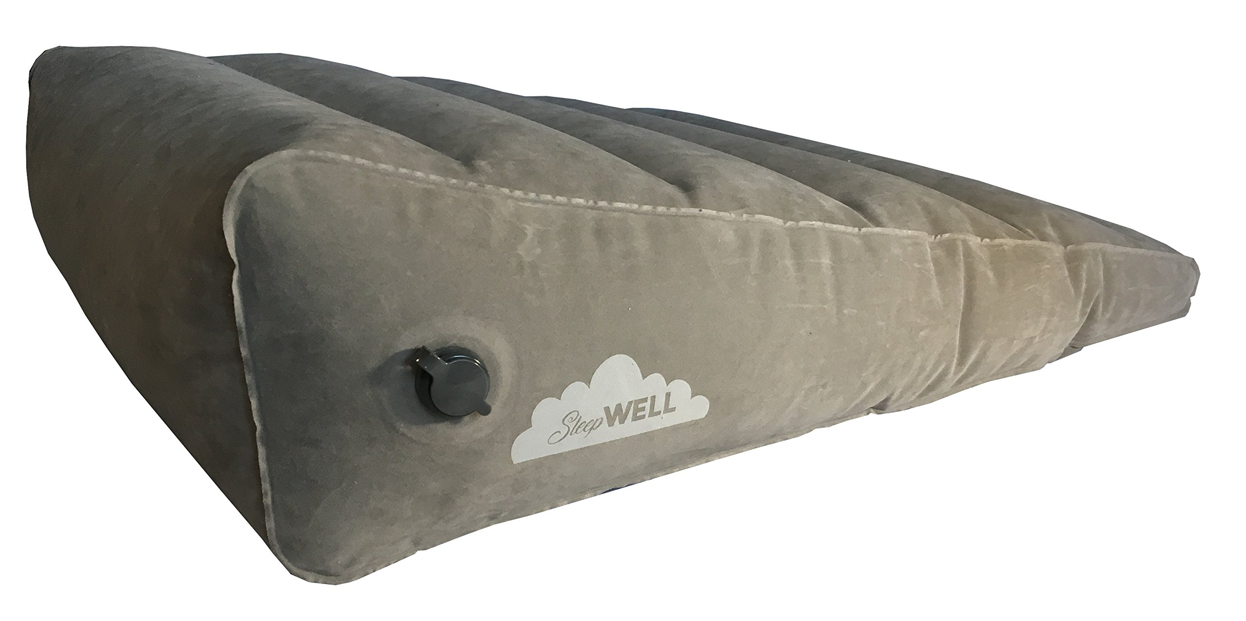 Sleepwell Inflatable Portable Bed Wedge with Quick Inflate/Deflate Valve and Soft Surface by Sleepwell