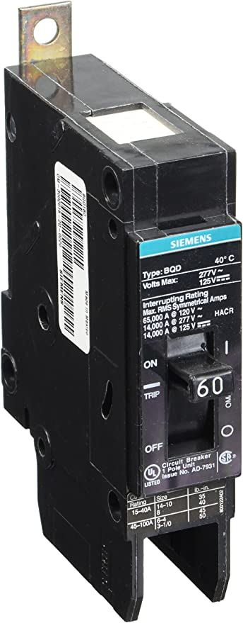 Siemens BQD120 Single Pole 30A 277V New Out Of Box