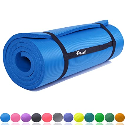 TRESKO® Esterilla de Fitness 185 x 60 cm y 190 x 100 cm para ...