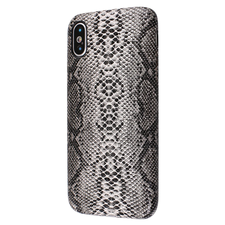 iphone xr case black snake skin