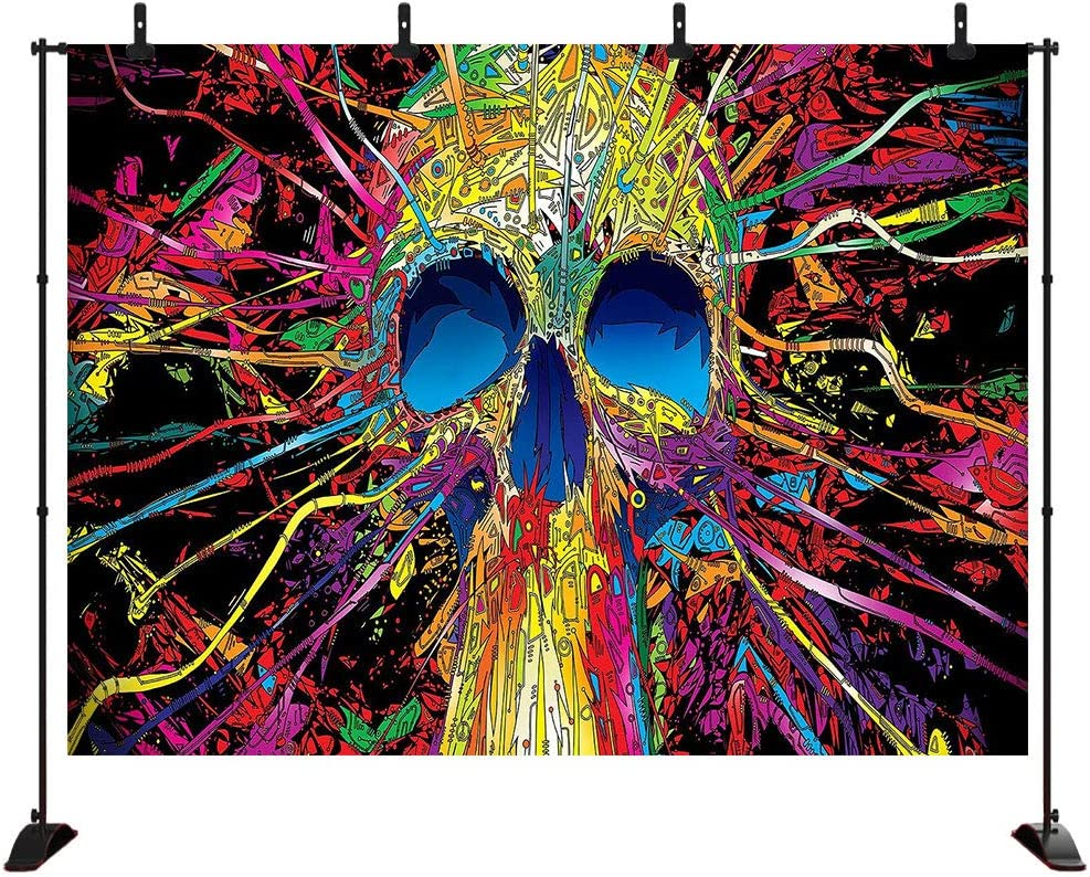 7x5FT Halloween Backdrops for Photography Halloween Photo Backdrop Color Skull Halloween Party Decorations Vinyl Background Photography Studio Props