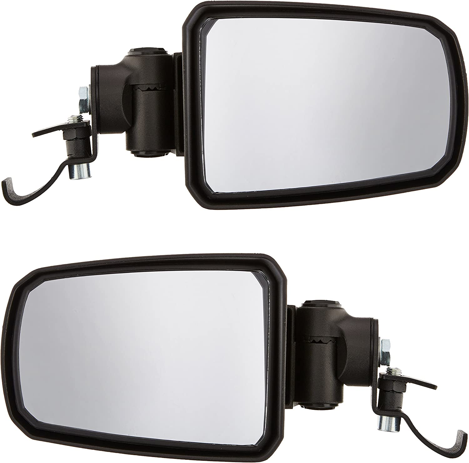 "2 Seizmik Black Pursuit Elite Side View Mirrors for 1.75/"" Roll Cage 18071"