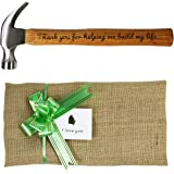 Langxun Engraved Wood Handle Steel Hammer / Personalized Gifts for Father's Day Gift & Birthday Gifts for Dad (Claw Hammers-THANK)