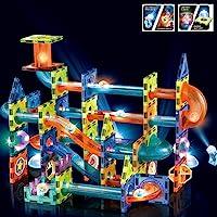 BINZKBB Magnetic Tiles Magnetic Blocks Building Toys, 3D Clear Magnets Toys, Marble Run STEM Toys Children Magnetic…