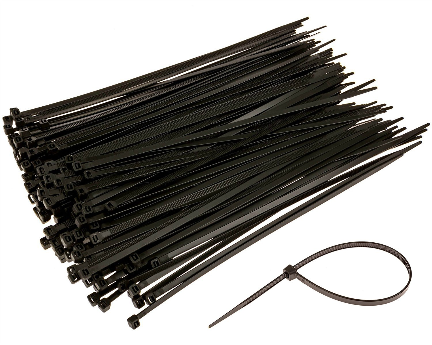 2e8a07e5f8c2 Amazon.com: 100 Pieces Nylon Cable Ties 6 Inch Self-locking Zip Ties  Plastic Straps (black): Sports & Outdoors
