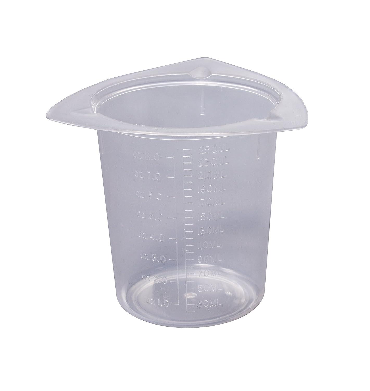 Camlab Plastics Tri-Cornered Plastic Beaker 250mL Pack of 25 1171500