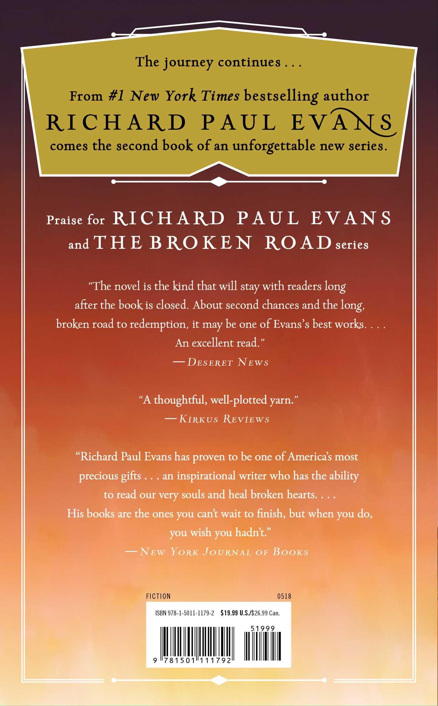 The Forgotten Road (The Broken Road Series): Richard Paul Evans:  9781501111792: Amazon.com: Books