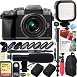 Panasonic LUMIX G7 Interchangeable Lens 4K Ultra HD Silver DSLM Camera with 14-42mm Lens Bundle with 64GB Memory Card…
