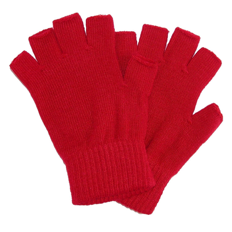 CTM Kid's Stretch Fingerless Gloves Black GM-MG1371-BLK