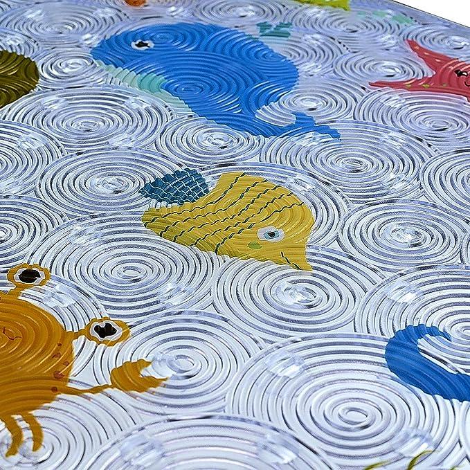 Canard WARRAH Tapis de Bain Antid/érapant pour Enfants et R/ésistant /à la Moisissure B/éb/é Tapis de Douche pour Salle de Bain et Baignoire avec Ventouses PVC /écologique,70 x 40 cm