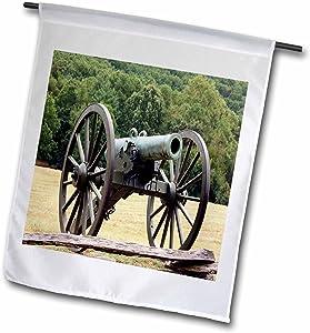 3dRose fl_43816_1 Civil War Cannon Garden Flag, 12 by 18-Inch