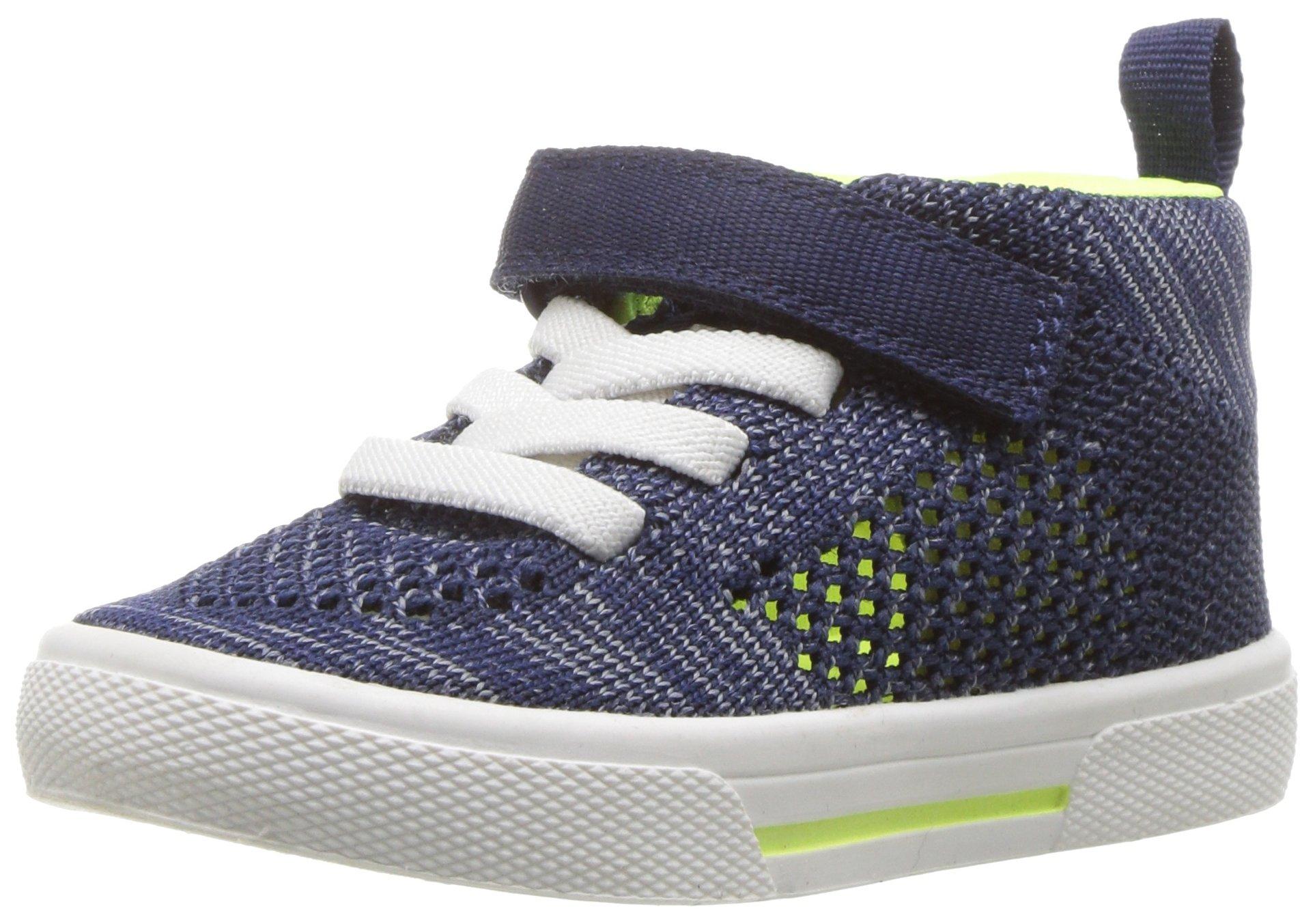 Carter's Boys' Knight High-Top Sneaker, Navy, 7 M US Toddler