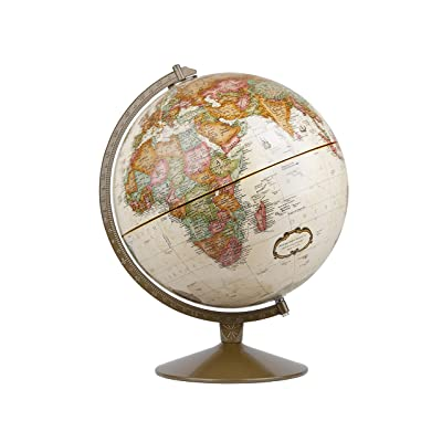 Replogle Globes Franklin World Globe, Antique Ocean, 12-Inch Diameter,Over 4,000 Place Names: Replogle Globes: Home & Kitchen