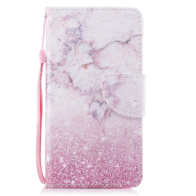 Coque Samsung Galaxy A3 2017, Cherry Modèle de Mode Étui en Cuir PU Magnétique Flip Cover Housse à Rabat avec Portefeuille et Fente pour Carte [Bouledogue] Chreey