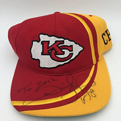 Derrick Thomas Signed Game Used Kansas City Chiefs On Field Sideline Cap Hat  - Game Used fadea3564