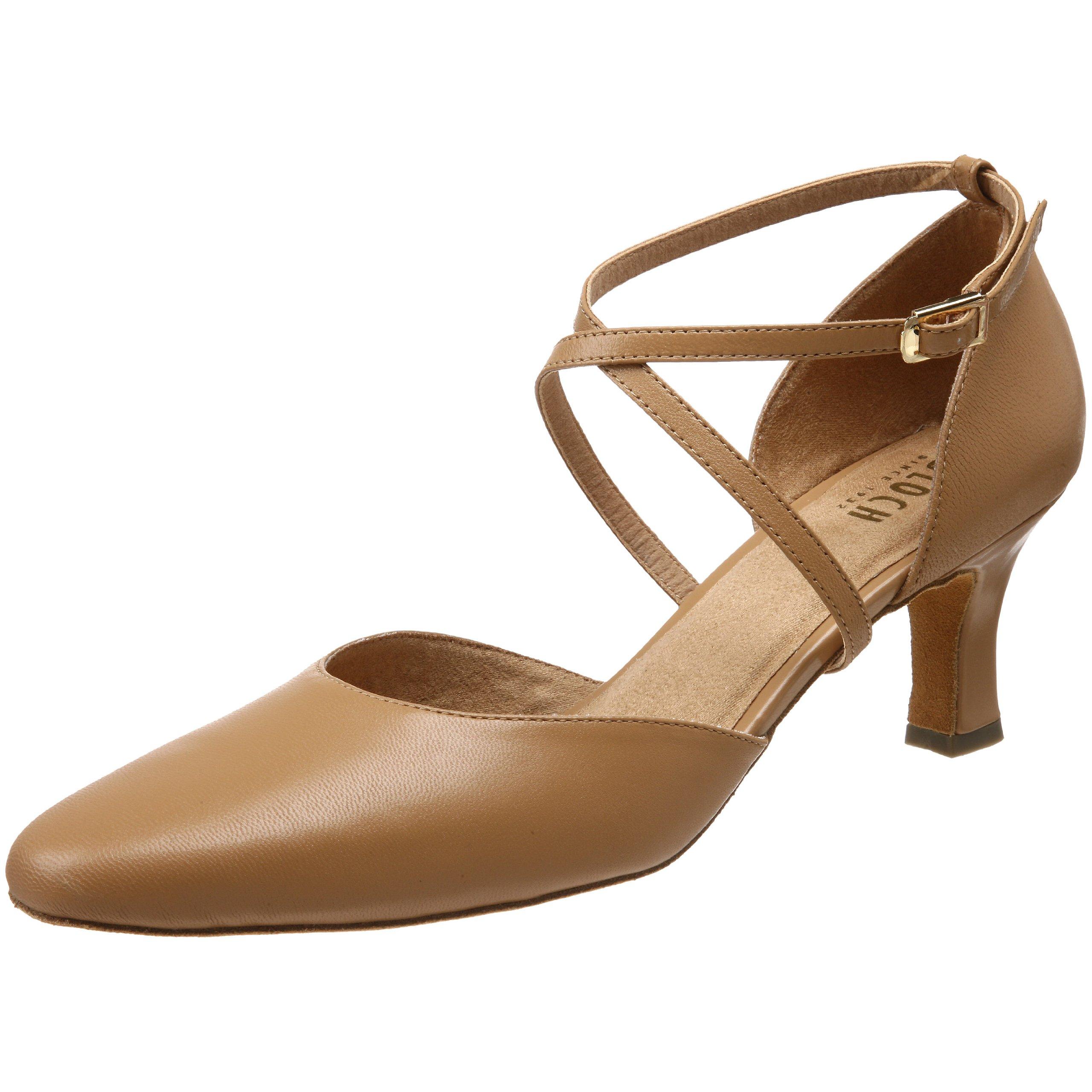 Bloch Women's Simona Ballroom Shoe,Natural,9.5 X(Medium) US