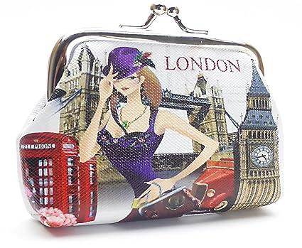CREAVVEE® London Mini Monedero Monedas Bolsa Bolsa Varios ...
