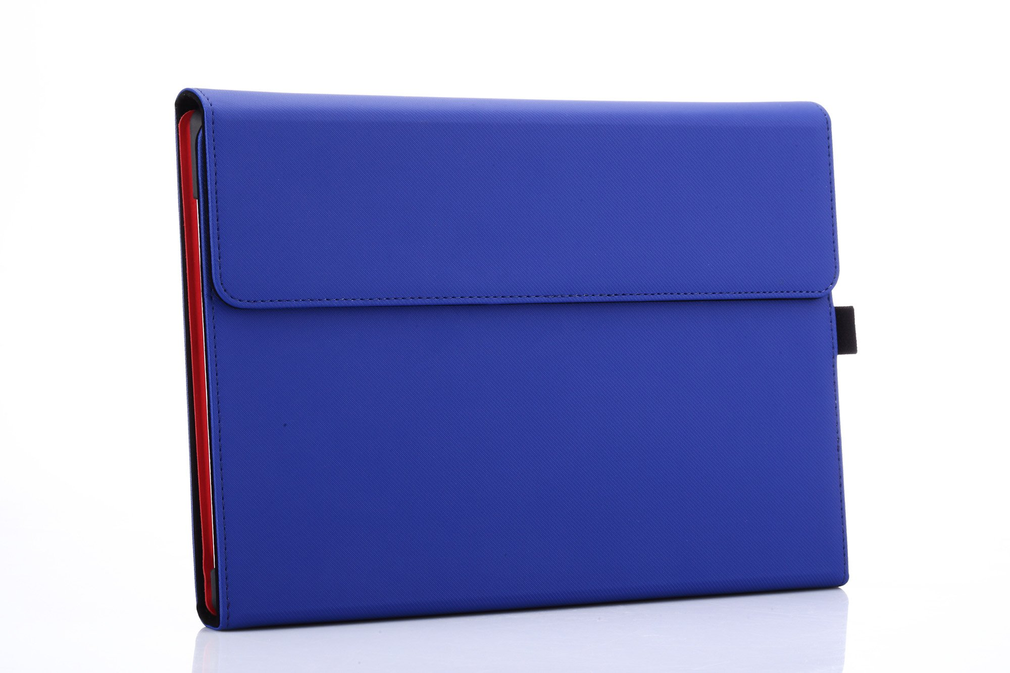 Microsoft Surface 3 Case, Compatible Surface 3 Type Cover, Valkit Folio Slim PU Leather Stand Cases and Covers With Stylus Pen Holder Compatible for Surface 3 10.8 inch Original Keyboard, Blue