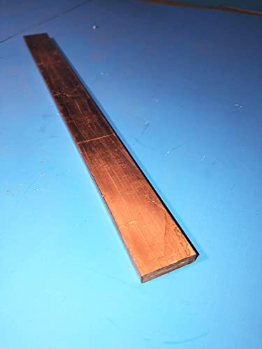 Unpolished H04 Temper 12 Length Mill Finish ASTM B187 1//2 Thickness 1-1//4 Width 110 Copper Rectangular Bar