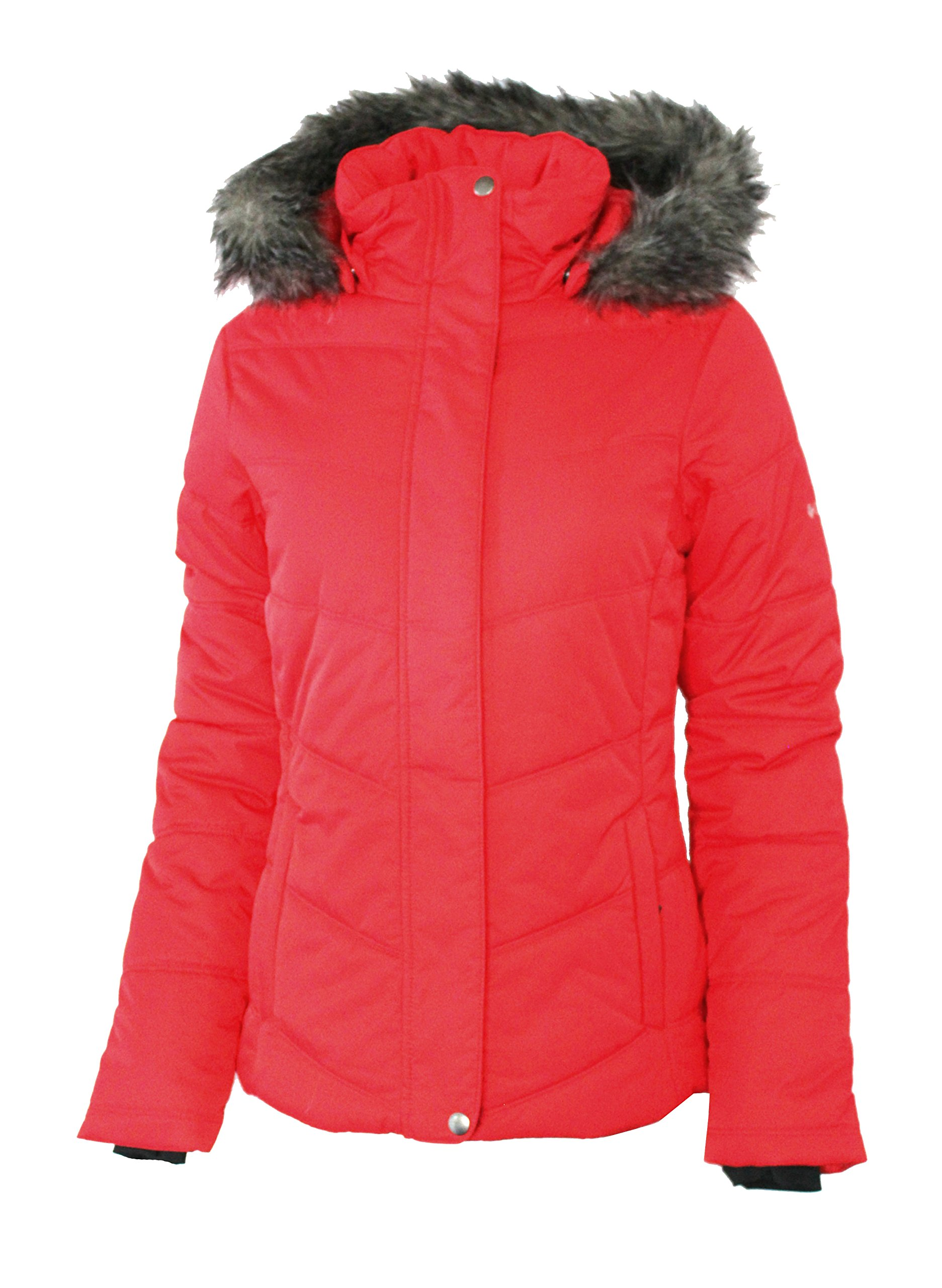 Columbia Women's Simply Snowy II Insulated Puffer Jacket Red Camellia (M) by Columbia
