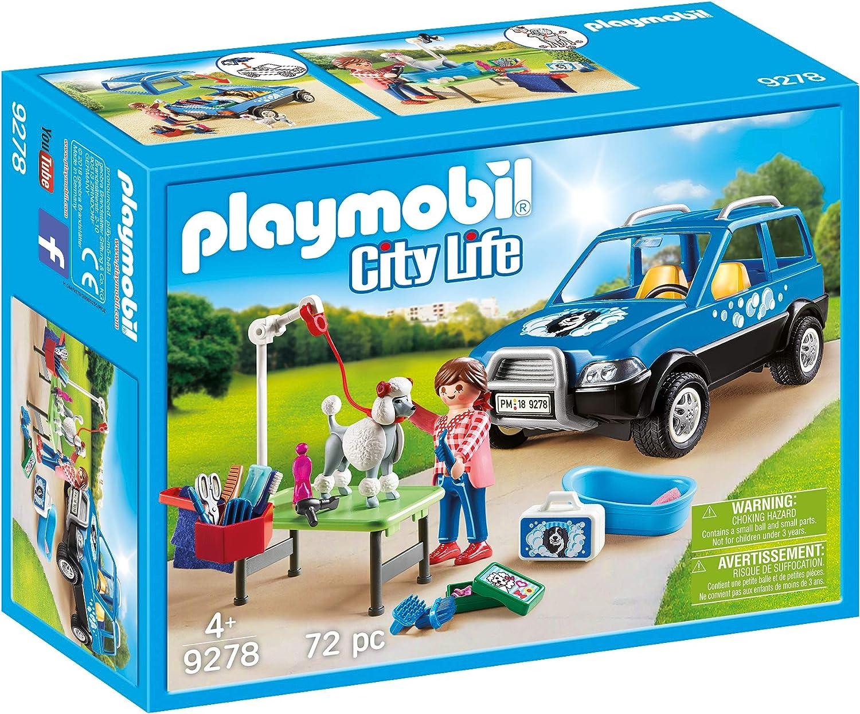 PLAYMOBIL City Life Coche Lavandería de Perros, A partir de 4 años ...