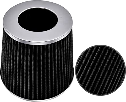 "3.5/"" Short Ram Cold Air Intake Filter Round//Cone Universal BLACK For Cadillac 1"