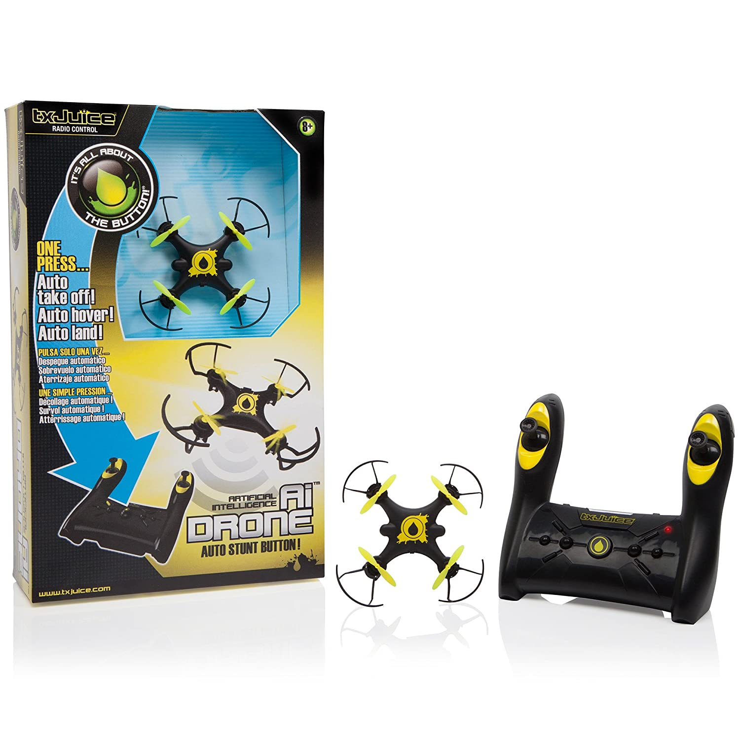 TX Juice Ai Drone - First RC Quadcopter with Auto Take-off, Hover ...