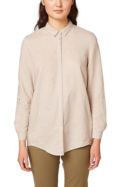 Esprit 038ee1f031, Blusa para Mujer, Blanco (White 100), 42