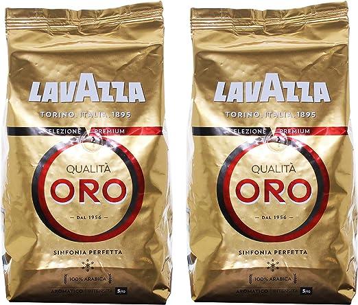 Lavazza Qualità Oro, Café en Grano, pack de 2, 2 x 1000g: Amazon.es: Hogar