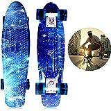 """SOLOMONE CAVALLI Retro Skateboards Mini Board Penny Style Design Complete 22"""" Plastic Board FS"""