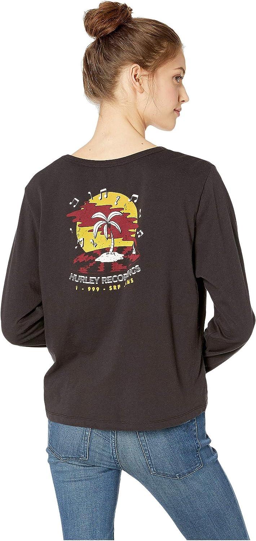 Hurley Womens Record Palms Long Sleeve Tshirt