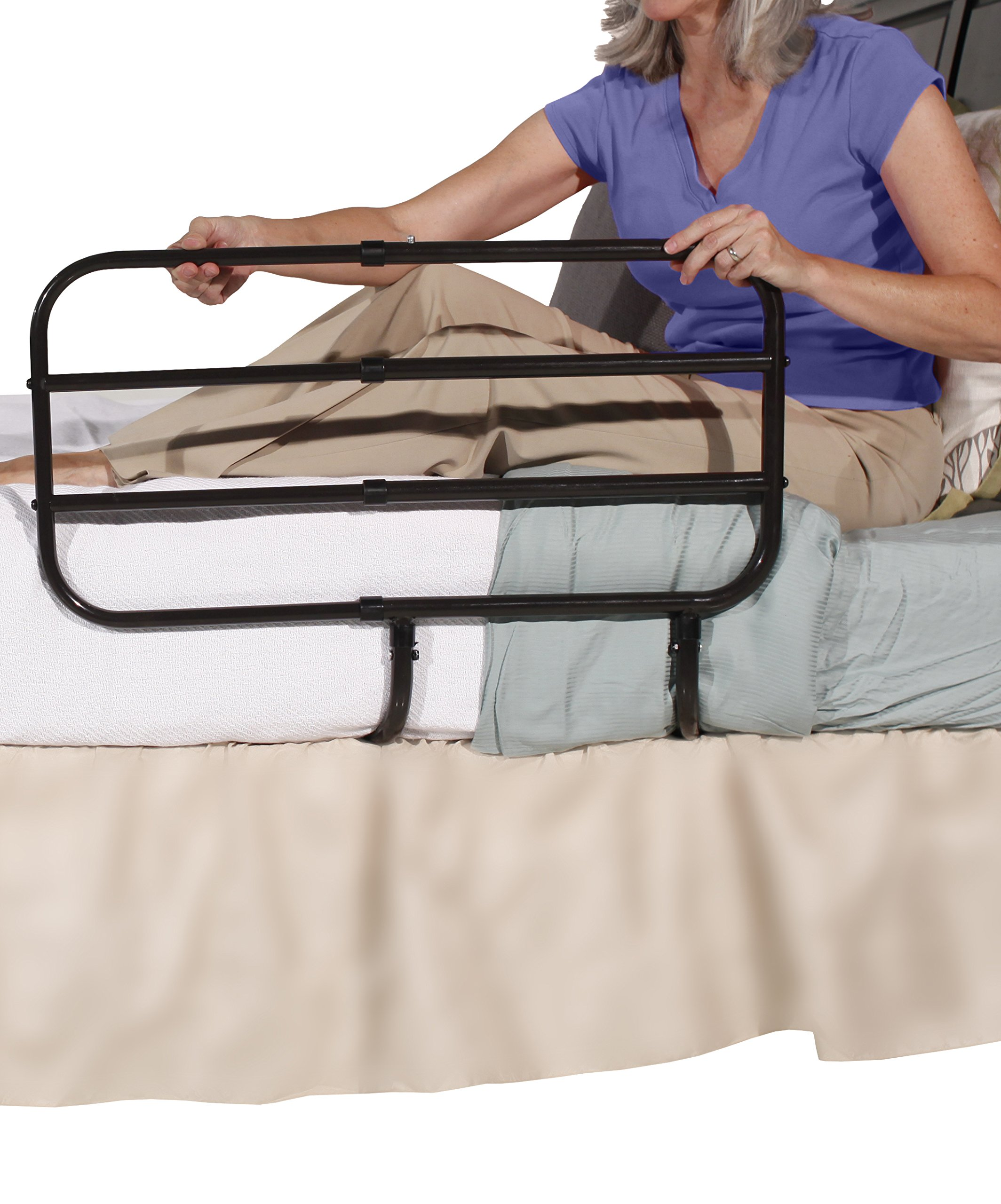 Able Life Bedside Extend-A-Rail - Adjustable Adult Home Safety Bed Rail + Elderly Assist Support Handle by Able Life