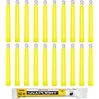 Cyalume Barras de luz amarilla SnapLight Glow Sticks
