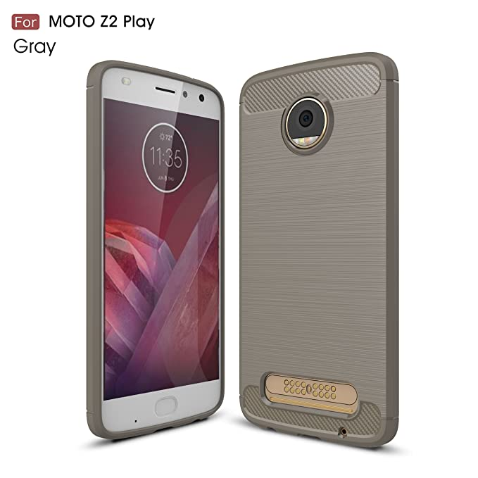 Amazon.com: Motorola Moto Z2 Play Case, SsHhUu Carbon Fiber ...