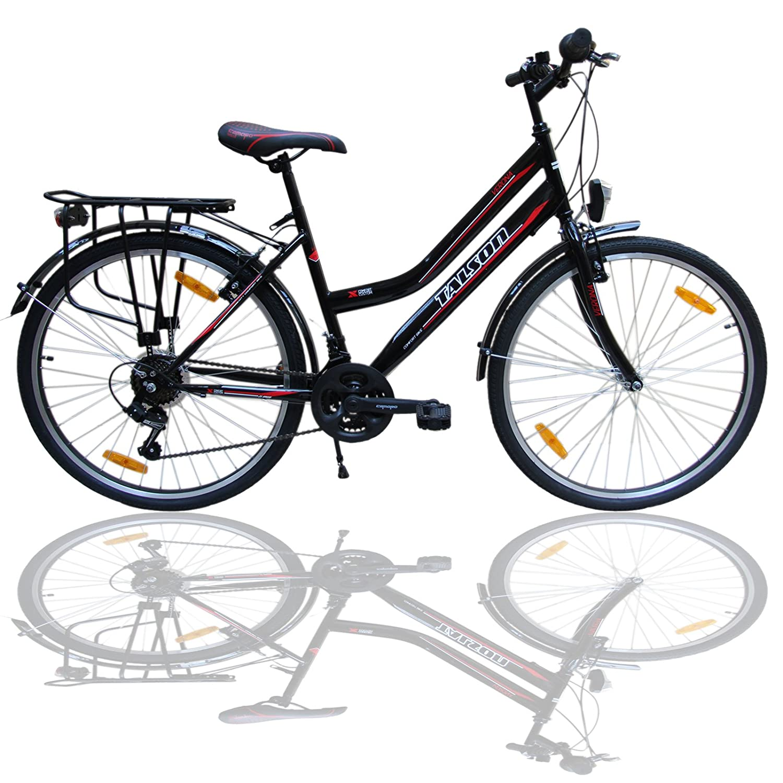 Talson 26 Zoll Fahrrad 21-Gang Shimano Schaltung mit Beleuchtung ...