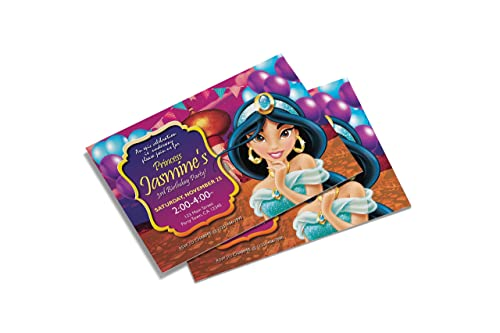 Amazon Com 10 Princess Jasmine Birthday Invitations 10