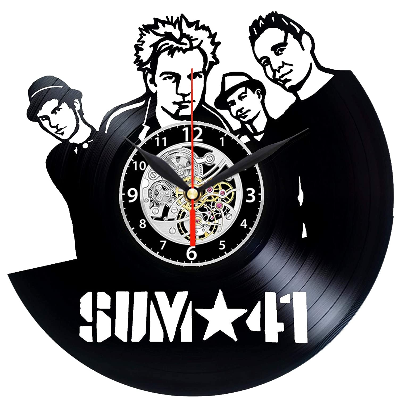 EVEVO Sum 41 - Reloj de Pared (41 Vinilo), diseño de Silueta ...