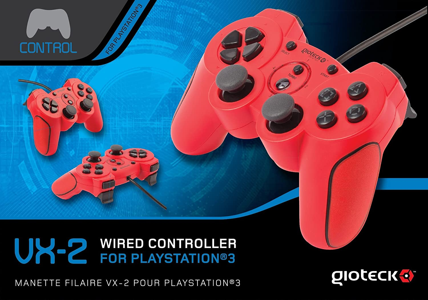 Amazon.com: Gioteck VX-2 Wired Controller - Red (PS3): Video Games