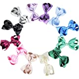 HipGirl Boutique Hairbow Grosgrain Ribbon Bows Clips For Girls Babies Teens Kids Toddlers Adults. Alligator Clip For Pigtails,Ponytails. Hair Accessories To Match Outfits,Dresses