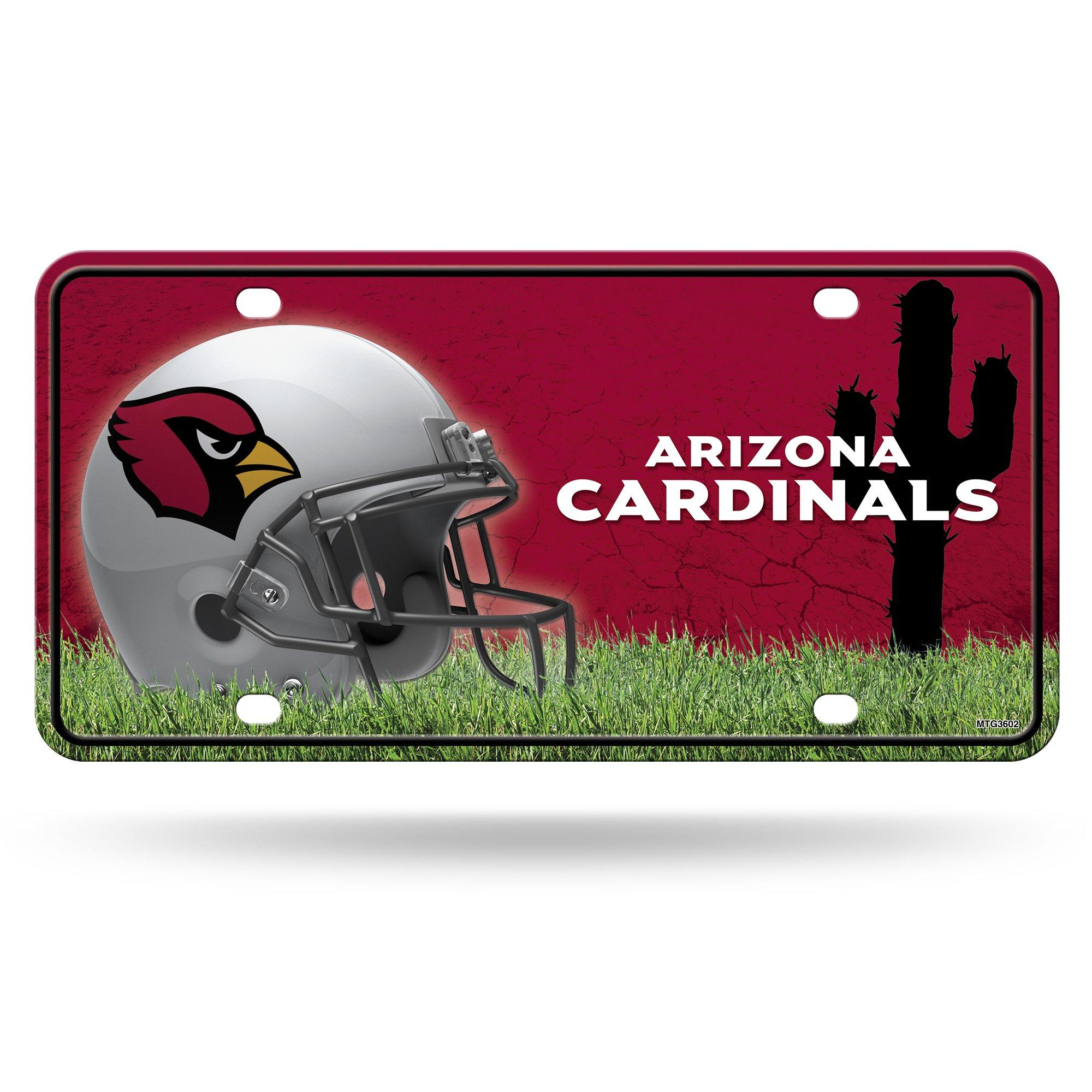 NFL Arizona Cardinals Metal Auto Tag
